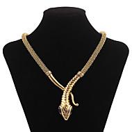 女性 ステートメントネックレス 模造ダイヤモンド スネーク ファッション ゴールド シルバー ジュエリー