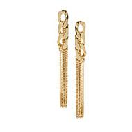 ドロップイヤリング ファッション あり ゴールドメッキ 合金 ゴールド ジュエリー のために 2 個