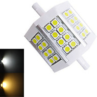1 pcs Ding Yao R7S 10W 24X SMD 5050 240-350LM 2800-3500/6000-6500K Warm White/Cool White Recessed Lights AC 85-265V
