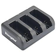 黒 - ahdbt-201 / ahdbt-301 / ahdbt-401 /のGoProヒーロー3 / 3+ / 4用kingma 3スロットバッテリ充電器