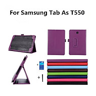 Για Samsung Galaxy Θήκη με βάση στήριξης / Ανοιγόμενη tok Πλήρης κάλυψη tok Μονόχρωμη Συνθετικό δέρμα Samsung Tab A 9.7