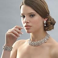 Sieraden Kettingen / Oorbellen / Armband Bruiloft / Feest Legering / Strass 1 Set Dames Zilver Giften van het Huwelijk