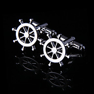 Toonykelly® Fashion Men's Silver Plated Party Cufflink Button(1 Pair)