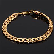 Damen Ketten- & Glieder-Armbänder Armreife ID Armbänder Freundschaftsbänder Vintage Armbänder Armband Modisch vergoldet Kreisform Golden