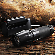أضواء فلاش سلسلة مفاتيح LED 5 طريقة 2200 شمعة Adjustable Focus / Nonslip grip Cree XM-L T6 18650 / AAA / 26650Camping/Hiking/Caving /