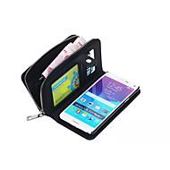 ל Samsung Galaxy Note7 ארנק / מחזיק כרטיסים / מגנטי מגן גוף מלא מגן צבע אחיד דמוי עור Samsung Note 7 / Note 5 / Note 4