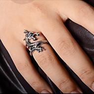 Gyűrűk Parti / Napi / Hétköznapi Ékszerek Ötvözet Férfi Vallomás gyűrűk 1db,7 Aranyozott / Ezüst