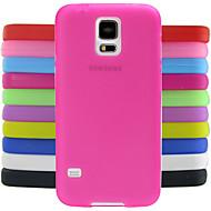 сплошной цвет желе силиконовый чехол шаблон дизайна для Samsung Galaxy i9600 s5