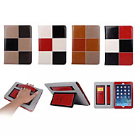 Mixed Color Pattern Genuine Leather Folio Cases Smart Cover for iPad air (Assorted Colors)