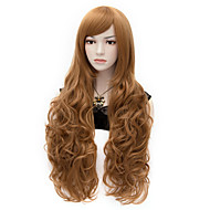 Elizabeth Long Curly Brown Cosplay Wigs Full Hair Wig