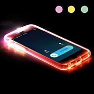 ny tpu ledet påminnelse flash gjennomsiktig tilbake tilfelle dekke for iPhone 6/6-ere (assortert farge)