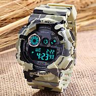 SANDA Miesten Urheilukello Digitaalinen Watch Rannekello Quartz Digitaalinen Japanilainen kvartsi LCD Kalenteri Ajanotto hälytys Kumi