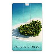 usb flash drive personalizado coração flash drive mar design de cartão de 32gb usb
