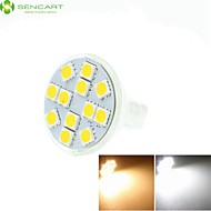 7W GU4(MR11) LED-spotlampen MR11 12 SMD 5060 450-550 lm Warm wit / Koel wit / Natuurlijk wit Dimbaar / DecoratiefDC 12 / AC 12 / AC 24 /