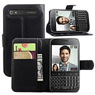 For BlackBerry etui Pung / Kortholder / Med stativ / Flip Etui Heldækkende Etui Helfarve Hårdt Kunstlæder for BlackBerry