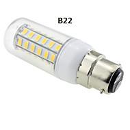 E14 / G9 / GU10 / E12 / B22 7 W 48 SMD 5730 600 LM Warm White T Corn Bulbs AC 220-240 V