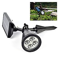 Güneş ışığı sensörü 4 liderliğindeki spot ışık açık çim peyzaj yol yol bahçe lambası