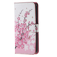 For Samsung Galaxy Note Card Holder / Wallet / with Stand / Flip Case Full Body Case Flower PU Leather SamsungNote 5 Edge / Note 5 / Note