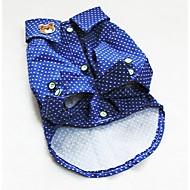 犬用品 Tシャツ ブルー 犬用ウェア 夏 春/秋 水玉 ファッション