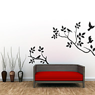 Wall Stickers Wall Decals Style Birds on The Tree PVC Wall Stickers