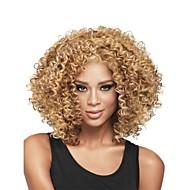 neue Art und Weisefrauen tief blonde Mischung lockige kurze Haare Perücke für african american