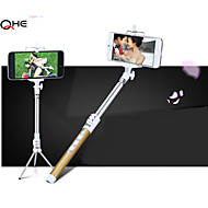 4 Button Extendable Selfie Tripod Stick with Bluetooth, Stainless Steel Remote Handheld Mount Tripod For IPhone6