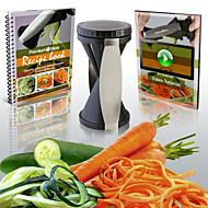 rasp groente julienne spiraal snijmachine, eenvoudig spiraal plantaardige&fruit snijmachine twister wereld cuisine groentesnijder