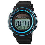 SKMEI Heren Sporthorloge Polshorloge Digitaal horloge LCD Kalender Chronograaf Waterbestendig alarm Zonne-Energie SporthorlogeDigitaal