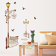 벽 스티커 벽 데칼 스타일 색 가로등 PVC 벽 스티커