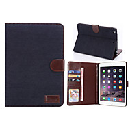 Denim Style PU Leather Case Card Slots & Wallet with Holder for iPad mini 2/3 (Assorted Colors)