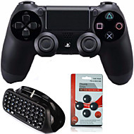 Dual Shock Wireless Bluetooth Game Controller +Mini Bluetooth Wireless Keyboard + Rocker cap for Sony PS4