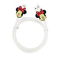 Disney Aminnie Charging Cable For Iphone 5G/5S/5C/6/6PLUS Ipad Air 2 Ipad Mini