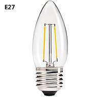 Lampade LED a incandescenza COB ON C E14/B22/E26/E27 2.5 W Intensità regolabile/Decorativo 200LM LM Bianco caldo AC 220-240 V