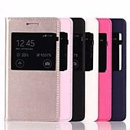Mert Samsung Galaxy tok Betekintő ablakkal / Automatikus készenlét/ébresztés / Flip Case Teljes védelem Case Egyszínű Műbőr Samsung J1