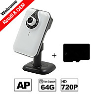 Besteye® H.264 WIFI Camera IP HD 720P 1.0m Pixels IR Night Vision Wired or Wireless Camera with SD Card