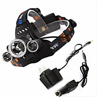 4 Mode 6000Lumens Headlamps/Headlamp Straps 18650 Waterproof/Rechargeable/Night Vision LED Cree XM-L T6