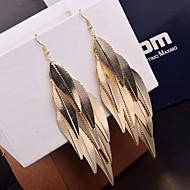 Kolczyki wiszące Stop Leaf Shape Silver Golden Biżuteria Na Ślub Impreza Codzienny Casual 2pcs