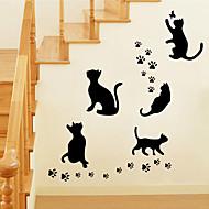 벽 스티커 벽 데칼 스타일의 검은 고양이 PVC 벽 스티커