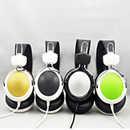 nytt pannebånd 3,5 mm kablede stereohodetelefoner headset med mikrofon for pc mobiltelefon datamaskin