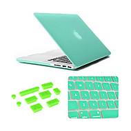 color sólido de mejor calidad moler caso del macbook arenisca con tapones cubierta del teclado y anti-polvo para MacBook Pro de 13,3