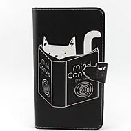 For Samsung Galaxy Note Pung Kortholder Med stativ Flip Etui Heldækkende Etui Kat Kunstlæder for Samsung Note 3