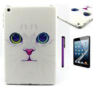 Lovely Cat Pattern TPU Soft Back Cover Case for iPad Mini 3/iPad Mini 2/iPad Mini