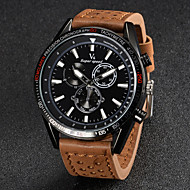 V6® Men's Fashion Design Leather Strap Quartz Casual Watch Cool Watch Unique Watch