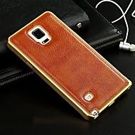 Voor Samsung Galaxy hoesje Beplating hoesje Achterkantje hoesje Effen kleur Echt leer Samsung A7 / A5 / A3