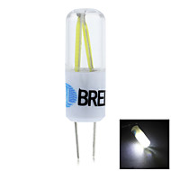 1개 BRELONG G4 1.5 W 2 COB 150 LM 따뜻한 화이트/차가운 화이트 LED 필라멘트 램프 DC 12 V