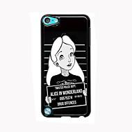 ipod touch 5 için karikatür kız tasarımı, alüminyum, yüksek kaliteli durumda