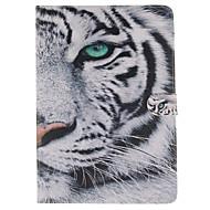 hvid tiger mønster pu læder hele kroppen tilfældet med stativ og kort slot til ipad luft 2