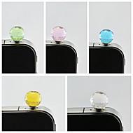bola de cristal a prueba de polvo enchufe de 3,5 mm para el sumsung iphone (color al azar)