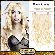 5 클립 숙녀 더 많은 색상을 사용할 수를위한 머리 연장에 표백제 금발 (# 613) 합성 머리 클립을 물결