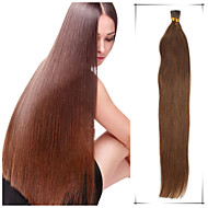 Grade 5A 1Pc/Lot 22Inch/55cm Multicolors Straight Fusion /I Tip Hair Extensions Human Hair Weaves 100s/Pack 0.5G/s